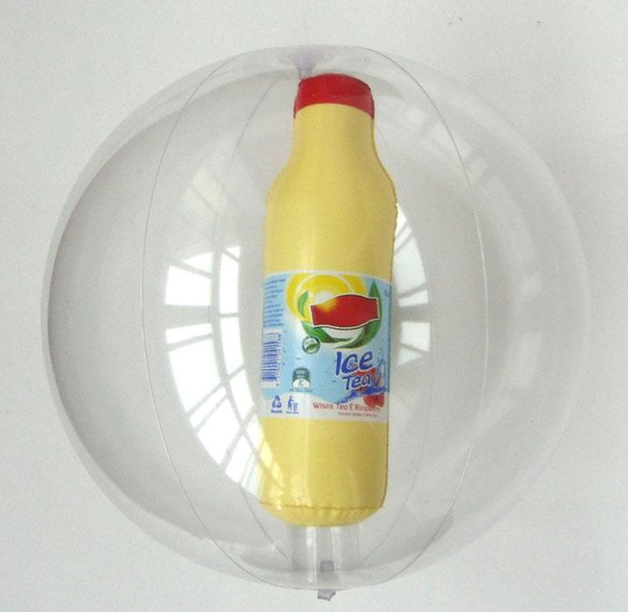 Inflatable Beach Ball witth 3D bottle inside